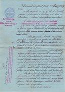 69 LYON FACTURE 1903  Huissier TURCAN Pour Graveur FROMENT   - Y93 - Francia