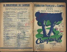 ANCIENNE REVUE FÉDÉRATION FRANÇAISE DE CAMPING  CAMPEURS U.F.A.C PARIS AVENUE VICTORIA 8 PAGES : - Tourisme