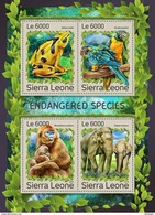 SIERRA LEONE 2016 - Endangered Species, Frog. Official Issue.