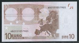 X GERMANY  € 10  E009 F2   DRAGHI UNC - EURO