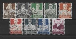 REICH - 1934 - YVERT N°513/521 OBLITERES - COTE = 150 EUR. - Gebraucht