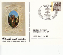 NbPP 80/14 Schreib Mal Wieder - Tag Der Briefmarke 1982, Berlin 12 - Postales Privados - Usados