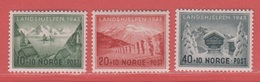 1943 ** (sans Charn., MNH, Postfrisch)   Yv  254/6    Mi  292/4    NHK  319/21