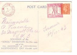 Czechoslovakia   Souvenir Of The SOKOL Exhibition 1943 25th Anniversery Czechoslovak Independence Day PR3912 - Tchécoslovaquie