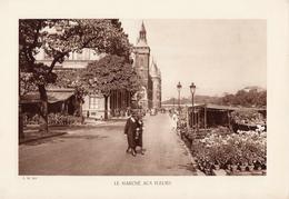 PARIS, LE MARCHE AUX FLEURS, Animée, Planche Densité = 200g, Format 20 X 29 Cm, () - Géographie