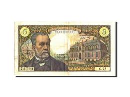 France, 5 Francs, 5 F 1966-1970 ''Pasteur'', 1968, 1968-04-04, KM:146b, TB+ - 1962-1997 ''Francs''