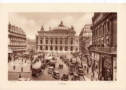 PARIS, L'OPERA, Animée, Planche Densité = 200g, Format 20 X 29 Cm, (Lader) - Géographie