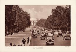 PARIS, L'AVENUE FOCH, Animée, Planche Densité = 200g, Format 20 X 29 Cm, (Lader) - Géographie
