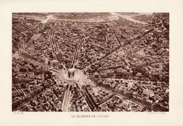 PARIS, LE QUARTIER DE L'ETOILE, Planche Densité = 200g, Format 20 X 29 Cm, (Moreau) - Géographie