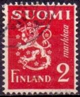 Finland 1936 2.mk Leeuw Rood GB-USED