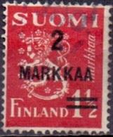 Finland 1937 Opdruk 2 Markaa Leeuw Rood GB-USED