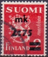 Finland 1940 Opdruk Mk 2.75 GB-USED