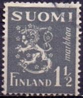 Finland 1940 1.50mk Leeuw Grijs GB-USED
