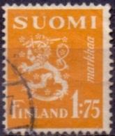 Finland 1940 1.75mk Leeuw Geel GB-USED
