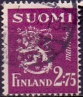 Finland 1940 2.75mk Leeuw Geel GB-USED