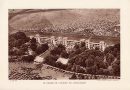 PARIS, LE CHAMP DE COURSES DE LONGCHAMP, Planche Densité = 200g, Format 20 X 29 Cm, (Cie Aérienne Française) - Géographie