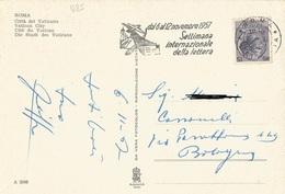 TIMBRO SU CART. DAL 6 AL 12 NOVEMBRE 1957 SETTIMANA INTERNAZ. DELLA LETTERA - Timbri Generalità