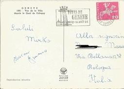 TIMBRO SU CART. FETES DE GENEVE 12-14/8/66 - Timbri Generalità