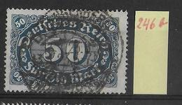 1923 - Mi Nr. 246b Gestempelt - KW = 11 Euros Geprüft INFLA BERLIN
