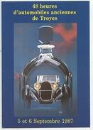 Troyes 1987 48 Heures Automobiles Anciennes (cartophile Aubois Tirage Limité) Transports Voitures - Passenger Cars
