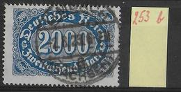 1923 - Mi Nr. 253b Gestempelt - KW = 8 Euros Geprüft INFLA BERLIN