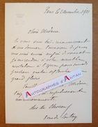 L.A.S 1911 Du DUC DE CHOISEUL - à Identifier - Rue De Sontay Paris - Invitation Opéra - Lettre Autographe LAS Noblesse - Autographes