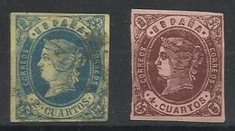 Espagne N° 53 Et 54 Oblitérés 1862 - 1850-68 Kingdom: Isabella II