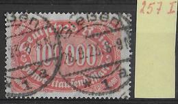 1923 - Mi Nr. 257 I  Gestempelt - KW = 35 Euros Geprüft INFLA BERLIN + PESCHL