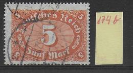 1922 - Mi Nr. 174b  Gestempelt - KW = 32 Euros Geprüft INFLA BERLIN