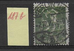 1922 - Mi Nr. 187 B  Gestempelt - KW = 30 Euros Geprüft INFLA BERLIN
