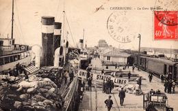 CPA    -   CHERBOURG    -  LA GARE MARITIME   -   UNITED STATES LINES - Cherbourg