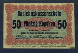 Banconota Germania 50 Kopeken 17/4/1916 SPL - To Identify