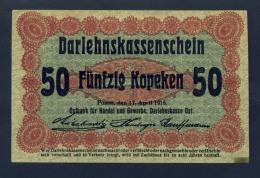 Banconota Germania 50 Kopeken 17/4/1916 SPL - Da Identificre