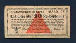 Banconota Germania 10 Reichsmark , Prigionieri Di Guerra - To Identify