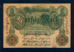 Banconota Germania 50 Mark  21/4/1910 BB - To Identify