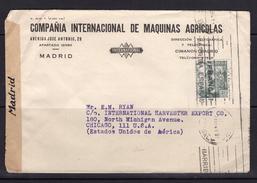 España 1941. Carta De Madrid A Chicago. Censura. - Marcas De Censura Nacional