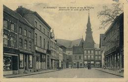 HASSELT :   MARCHE AU BEURRE ET VUE DE L'EGLISE - Hasselt