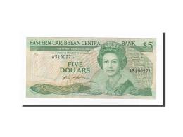 Etats Des Caraibes Orientales, 5 Dollars, KM:22a1, TTB - Caraïbes Orientales