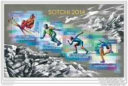 CENTRAL AFRICA 2014 ** M/S Sochi Sotschi Sotchi 2014 Olympic Games Olympische Spiele A1436 - Winter 2014: Sotschi