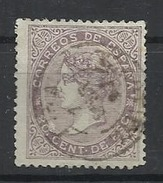 Espagne N° 92 Oblitéré  1866 - Usados