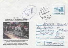 A171  VAGON  ,TRAIN 1997 COVERS POSTAL STATIONERY ROMANIA. - Treni