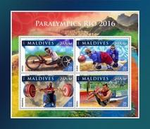 Maldiven / Maldives - Postfris / MNH - Sheet Paralympics 2016 - Maldiven (1965-...)