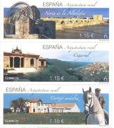 ESPAGNE SPANIEN SPAIN ESPAÑA 2016 RURAL ARCHITECTURE SET 3V MNH ED 5086-88 MI 5105-07 YT 4810-12 SC 4149-51 - 2011-... Nuevos & Fijasellos