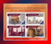 Maldiven / Maldives - Postfris / MNH - Sheet Grote Brand Van Londen 2016 - Maldiven (1965-...)