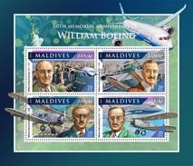 Maldiven / Maldives - Postfris / MNH - Sheet William Boeing 2016 - Maldiven (1965-...)