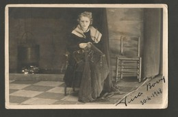 VINA BOVY * FOTOKAART * ORIGINELE HANDTEKENING * 1948 * GENT * GAND * OPERA - Gent