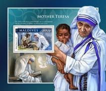 Maldiven / Maldives - Postfris / MNH - Sheet Moeder Teresa 2016 - Maldiven (1965-...)