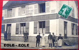 78 - CARTE PHOTO - DAMPIERRE - Hotel Saint PIERRE - Henri LEMARCHAND - Restaurant - Devanture - - Dampierre En Yvelines