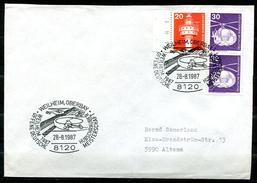"""Germany 1987 Sonderbeleg/Cover """"Hubschrauber,Heli """"mit Mi.Nr.849 U.SST""""Weilheim-Hubschrauber Meisterschaft,Heli.""""1 Beleg"""