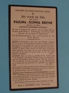 DP Paulina-Sophia BREYNE ( DUFLOU ) Langemarck 11 Oogst 1851 - Vlamertinge 26 Juli 1934 ( Zie Foto´s ) ! - Religion & Esotérisme